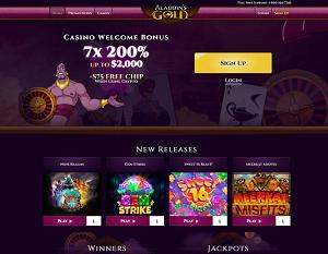 Aladdins Gold Casino Slots Lobby